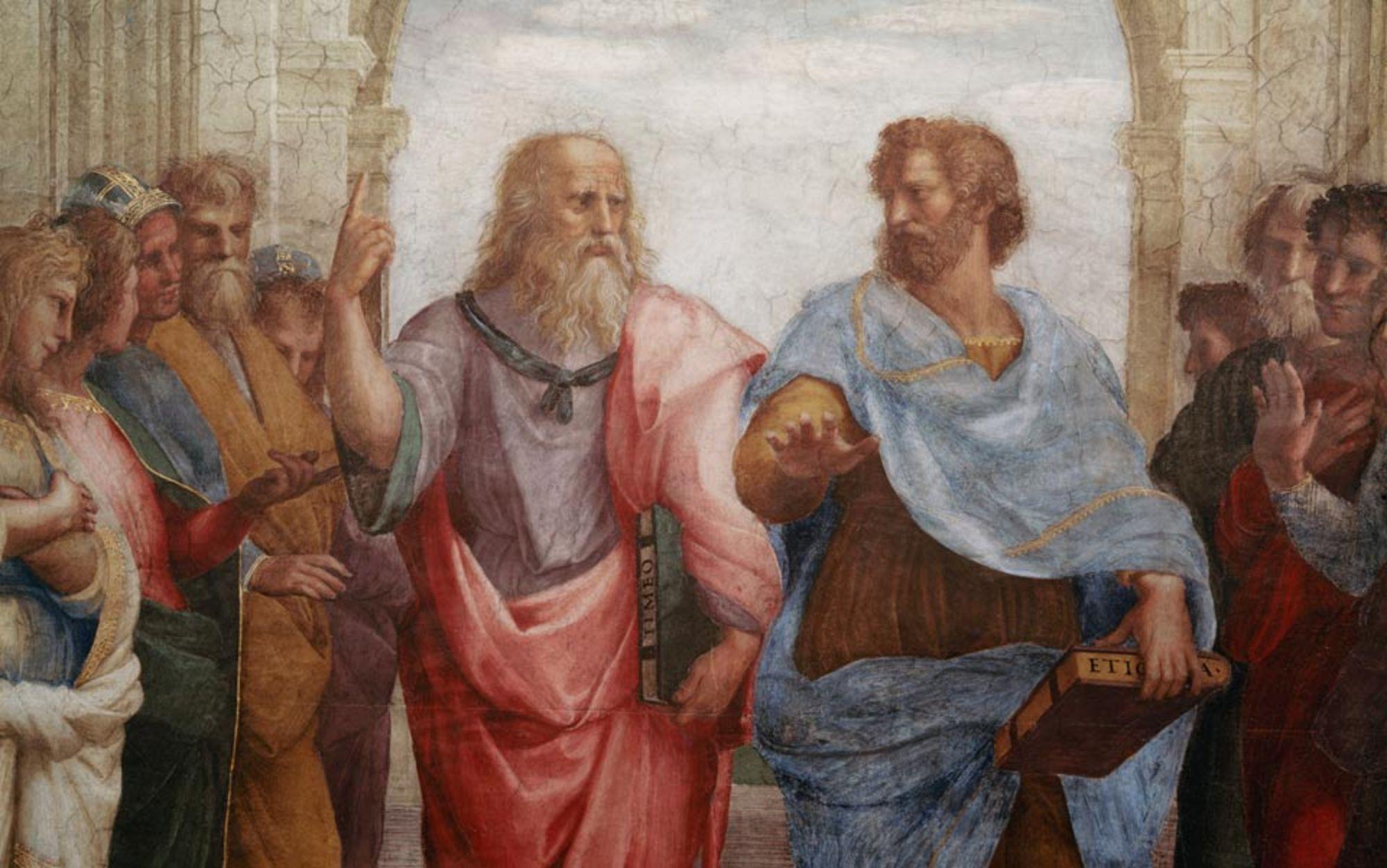 Header plato and aristotle