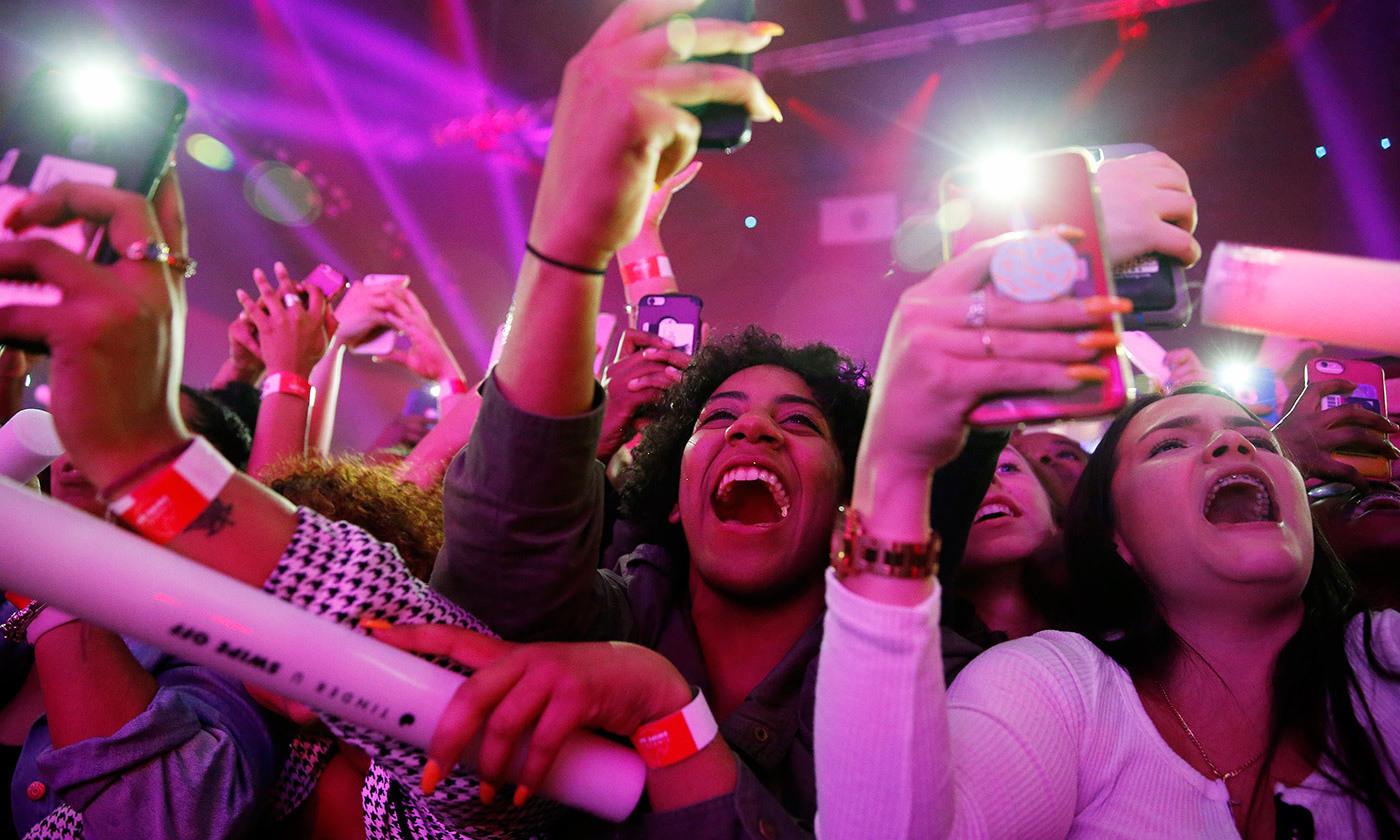 <p>Fans of the rapper Cardi B. <em>Photo by Jessica Rinaldi/The Boston Globe via Getty Images</em></p>