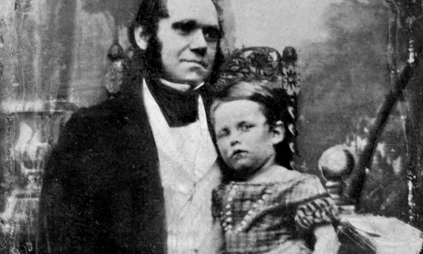 <p>Daguerrotype of Charles Darwin with his eldest son William in 1842. <em>Photo courtesy Cambridge University Library/Wikipedia</em></p>