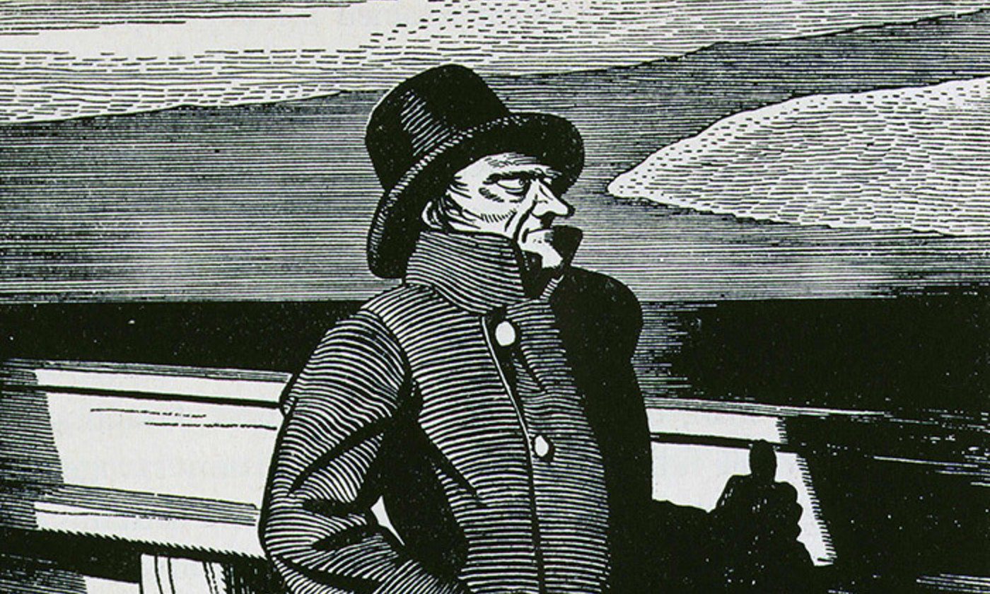 Rockwell Kent's illustration of Captain Ahab from the 1937 edition of Moby Dick. <em>Photo by Rex Features</em>