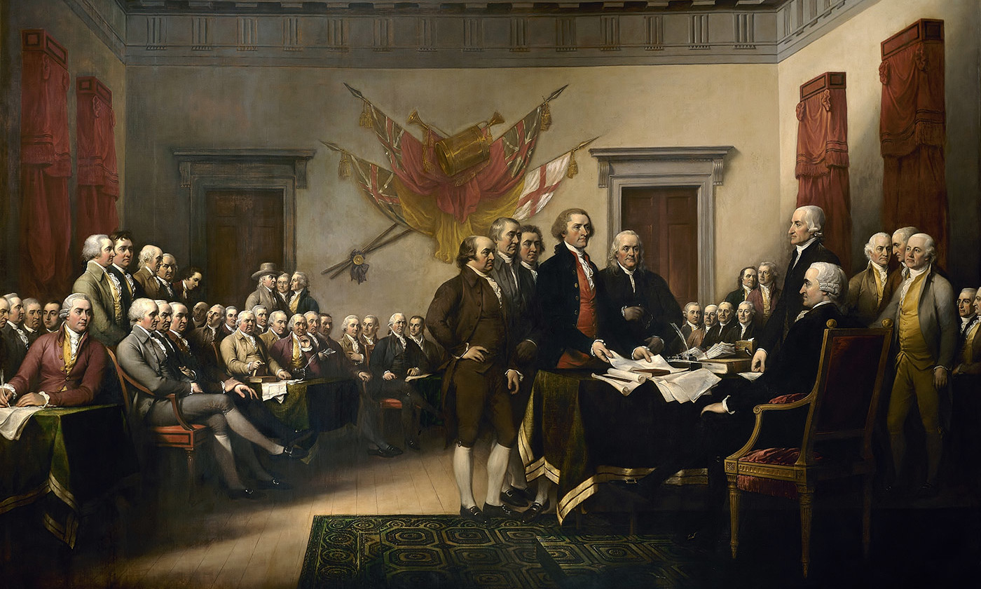 <em>The Declaration of Independence</em> by John Trumbull, 1819. <em>Courtesy Wikimedia</em>