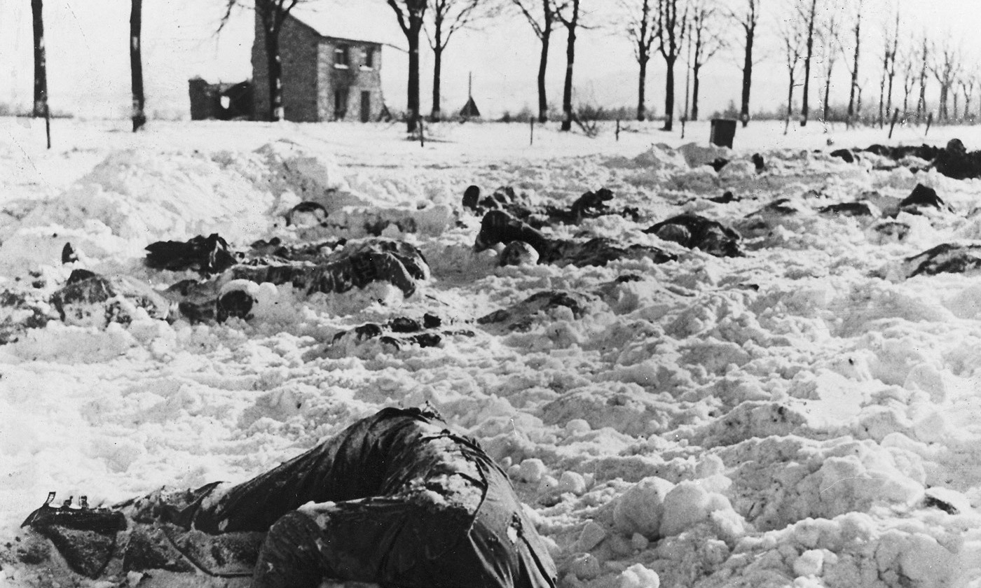 American soldiers murdered by the 1st SS Panzer Division at Malmedy, 14 January 1945. <em>Photo Wikipedia</em>