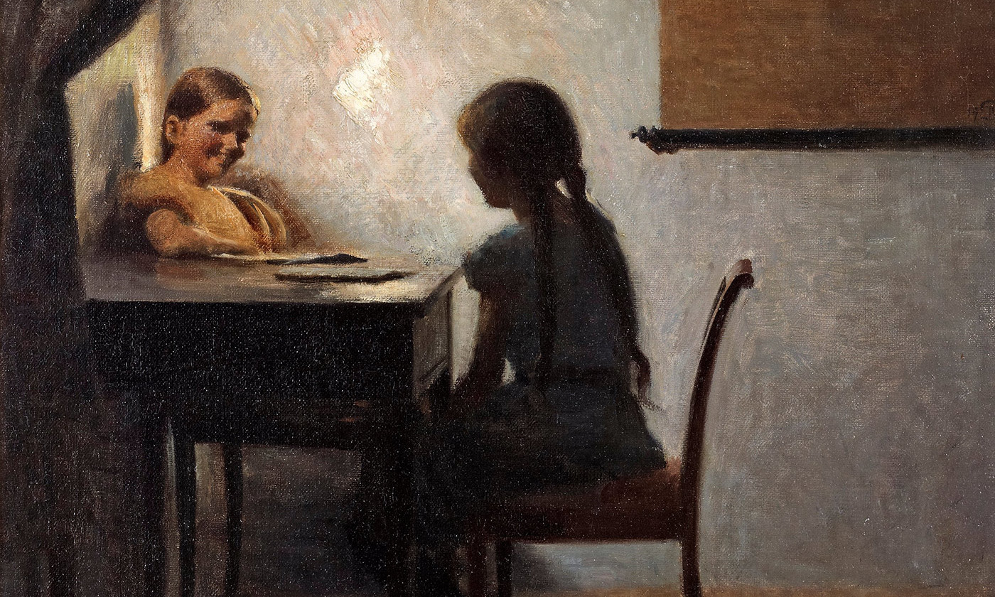 Detail from <em>Interior with Two Girls</em> by Peter Ilsted, 1904. <em>Photo courtesy Flickr</em>