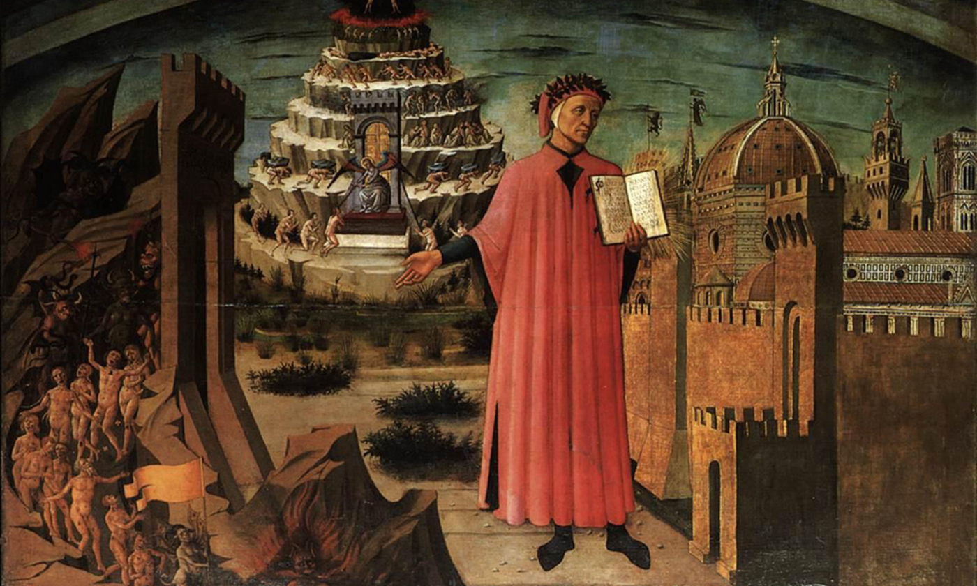 <em>Dante and the Three Kingdoms</em> by Domenico-di-Michelino/Wikimedia