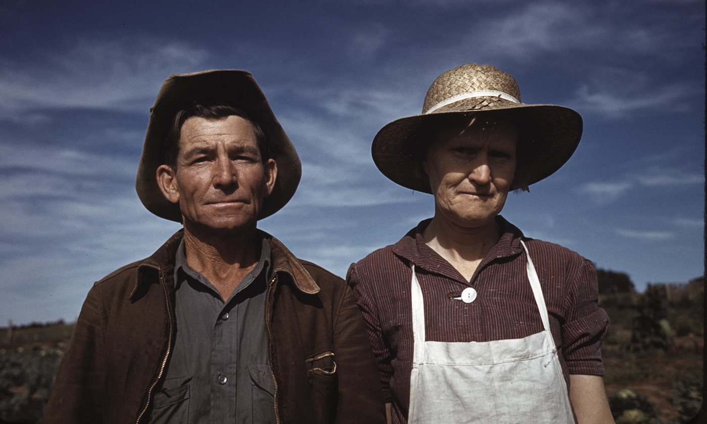 <p>Jim Norris and wife, homesteaders in Pie Town, New Mexico, October 1940. <em>Photo by Russell Lee/Library of Congress</em></p>