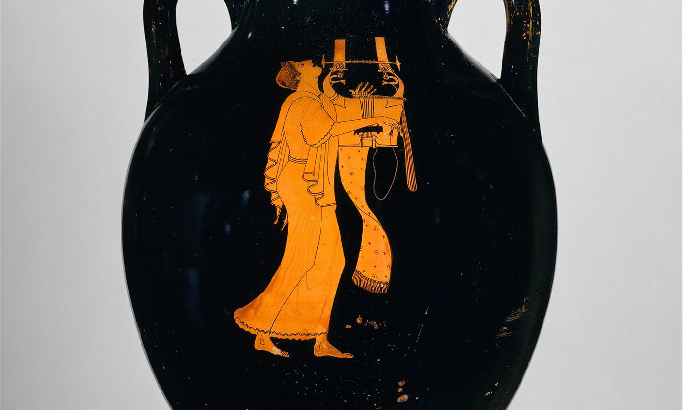 <p>Terracotta amphora, <em>c</em>490 BCE. <em>Courtesy The Metropolitan Museum of Art, New York</em></p>