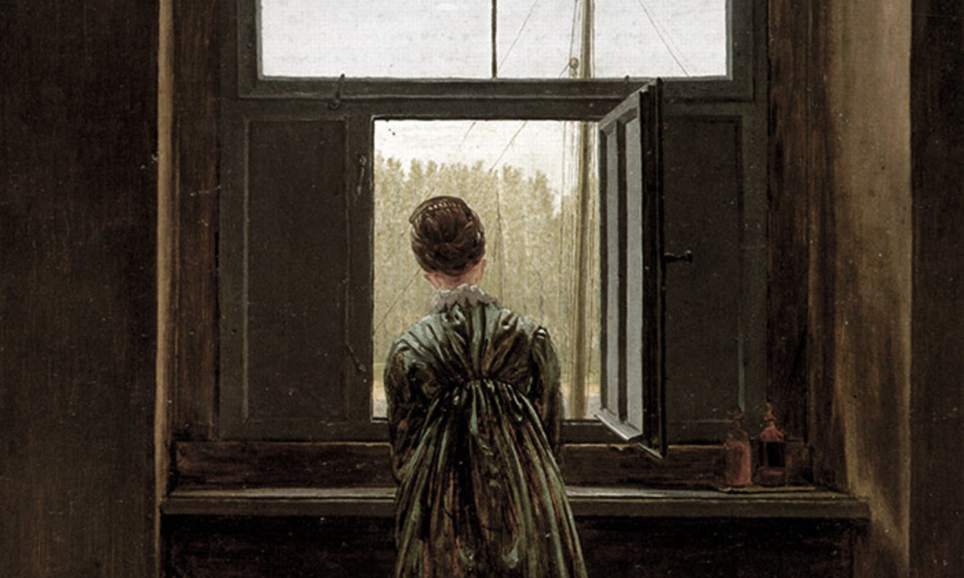 <p>Detail from <em>Woman at a Window</em> (1822) by Caspar David Friedrich. <em>Courtesy Alte Nationalgalerie, Berlin</em></p>