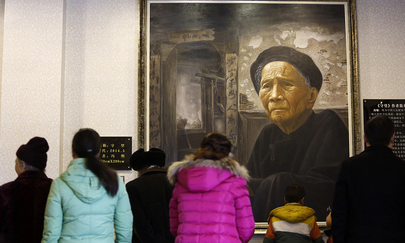 At the Modern Filial Piety Culture Museum in Qionglai, southwest China, February 2015. <em>Photo by STR/AFP/Getty</em>