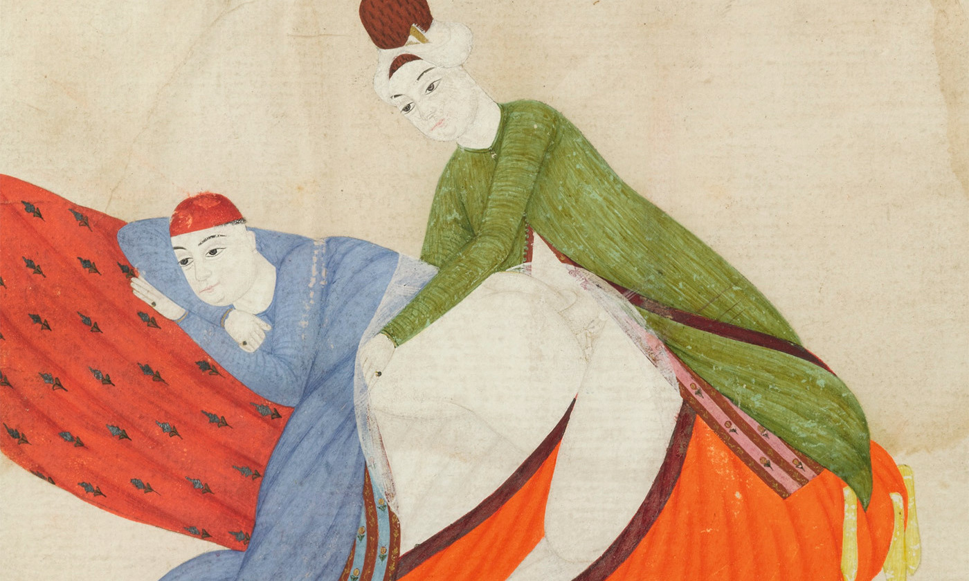 <p>Turkey, probably Istanbul, 18th century. An erotic scene, ascribed to Abdullah Bukhari. 1743 CE. <em>Photo courtesy Sothebys</em></p>