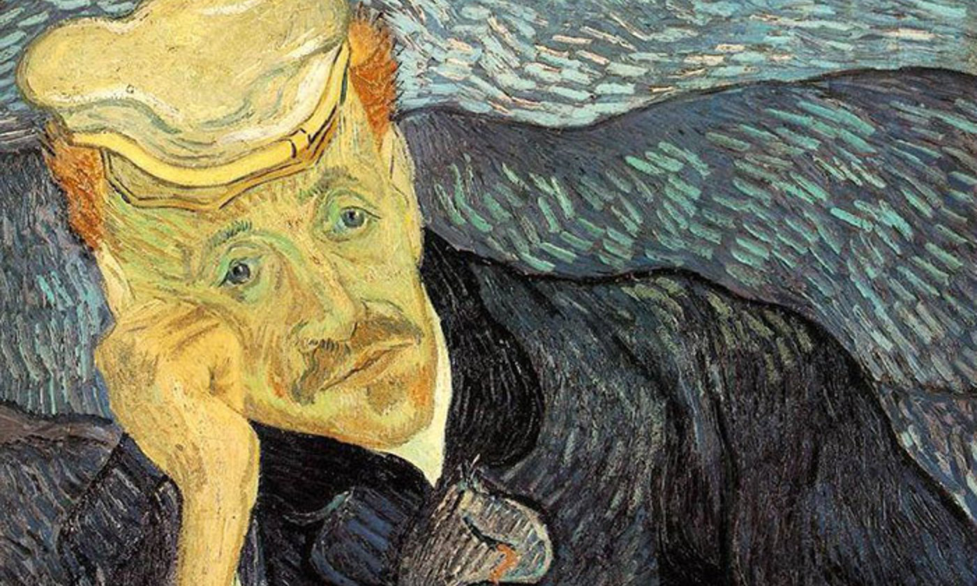 Detail from <em>Portrait of Dr Gachet</em> (1890), by Vincent van Gogh. Private collection. <em>Photo courtesy Wikipedia</em>