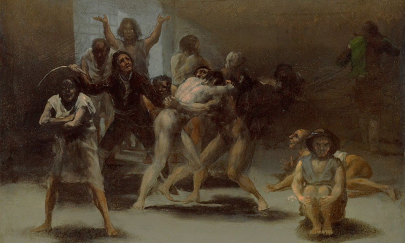 <p><em>Yard with Lunatics </em>1794, (detail) by Francisco José de Goya y Lucientes. <em>Courtesy Wikimedia/Meadows Museum, Dallas</em></p>