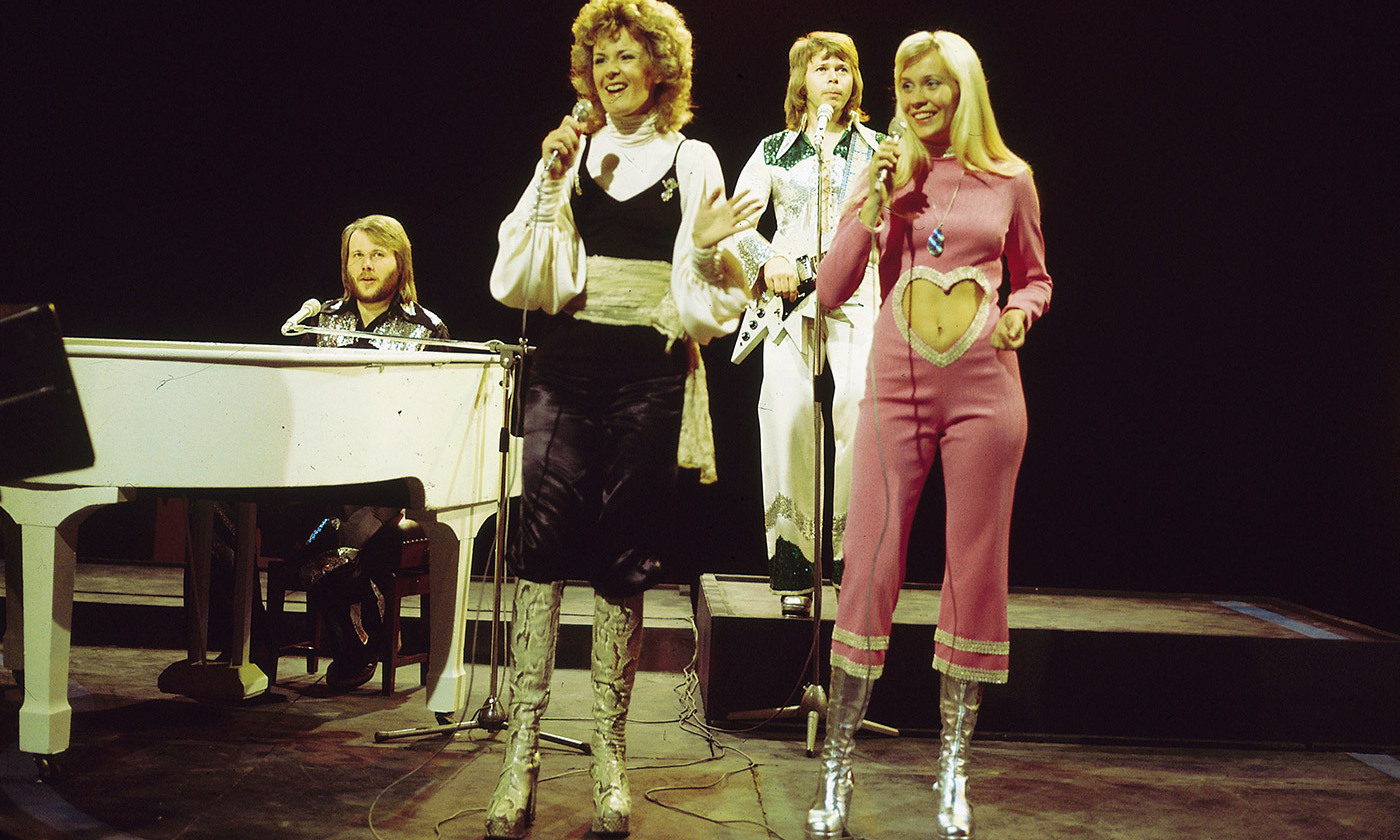 <p>Happier days: Abba performing 'Waterloo' on <em>Top of The Pops</em> in 1974. <em>Photo by Redferns/Getty</em></p>