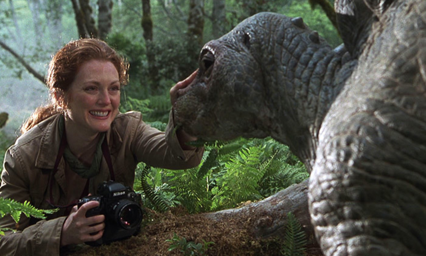 <p>I know what you mean. Maybe. Julianne Moore in <em>The Lost World: Jurassic Park </em>(1997). <em>Photo courtesy Universal Pictures</em></p>