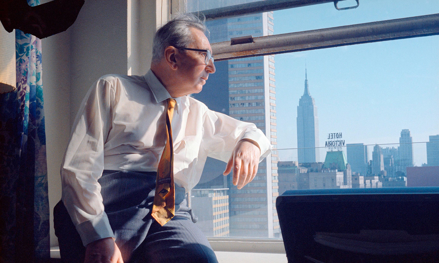 <p>Viktor Frankl in New York, 1968. <em>Photo by Imago/Getty</em></p>