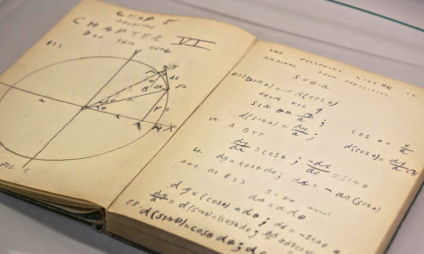 "<p>Richard Feynman's high school calculus notebook: 'That was a way to try to get it into my head this time, instead of forgetting it. So I had learned calculus.' <em>Courtesy </em><a href=""http://physicsbuzz.physicscentral.com/2014/11/artifacts-from-archives.html"" target=""_blank""><em>Physics Central</em></a><em>/Niels Bohr Library and Archive</em></p>"