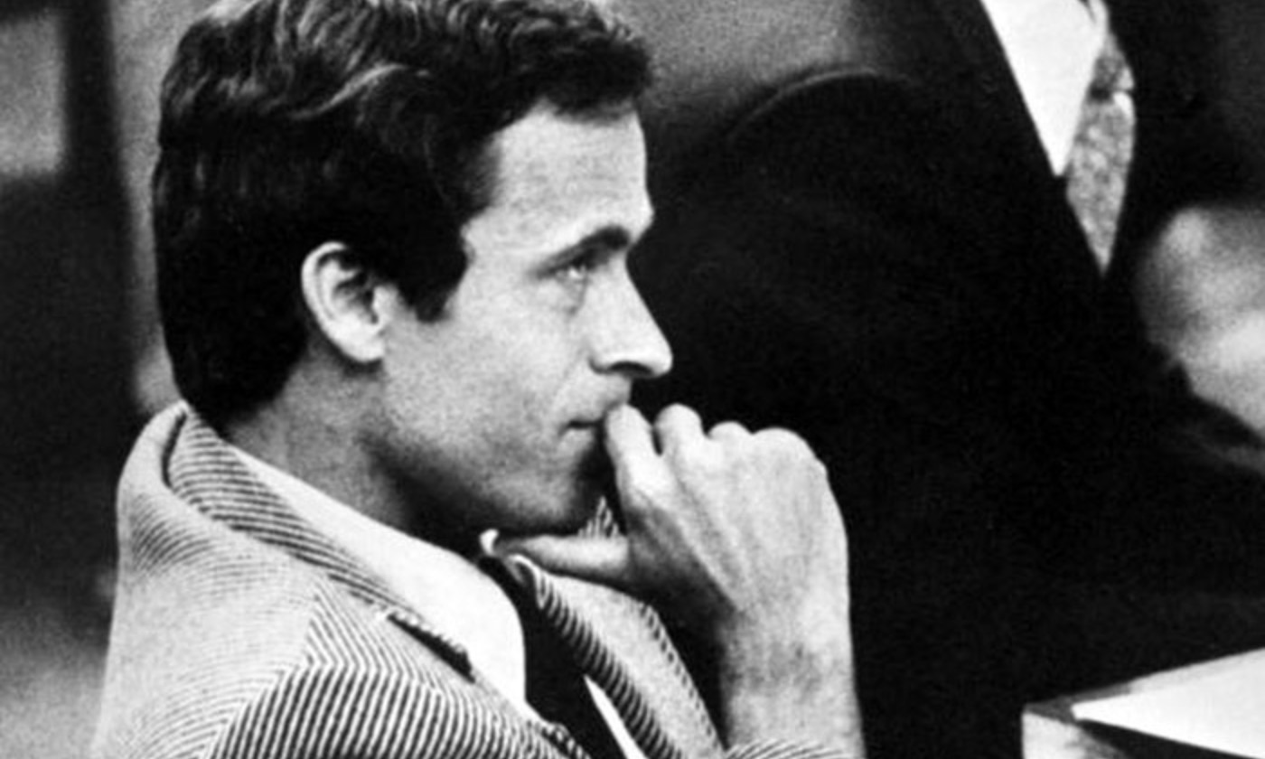 Ted Bundy in court. <em>Photo courtesy Wikimedia</em>
