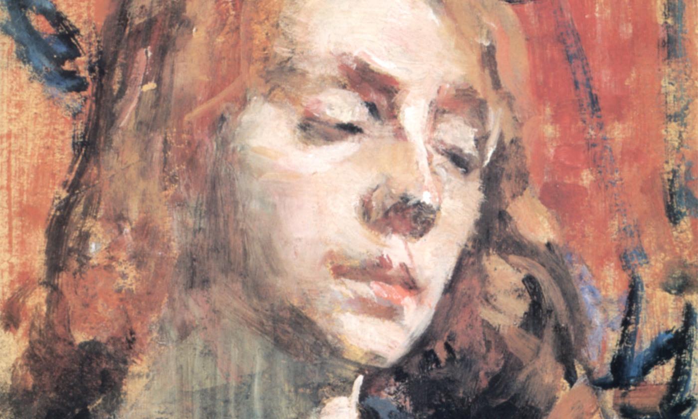 <p>Detail from <em>The Sad Girl</em> (1923) by Sarah Purser. <em>Courtesy the National Gallery of Ireland/Wikimedia</em></p>