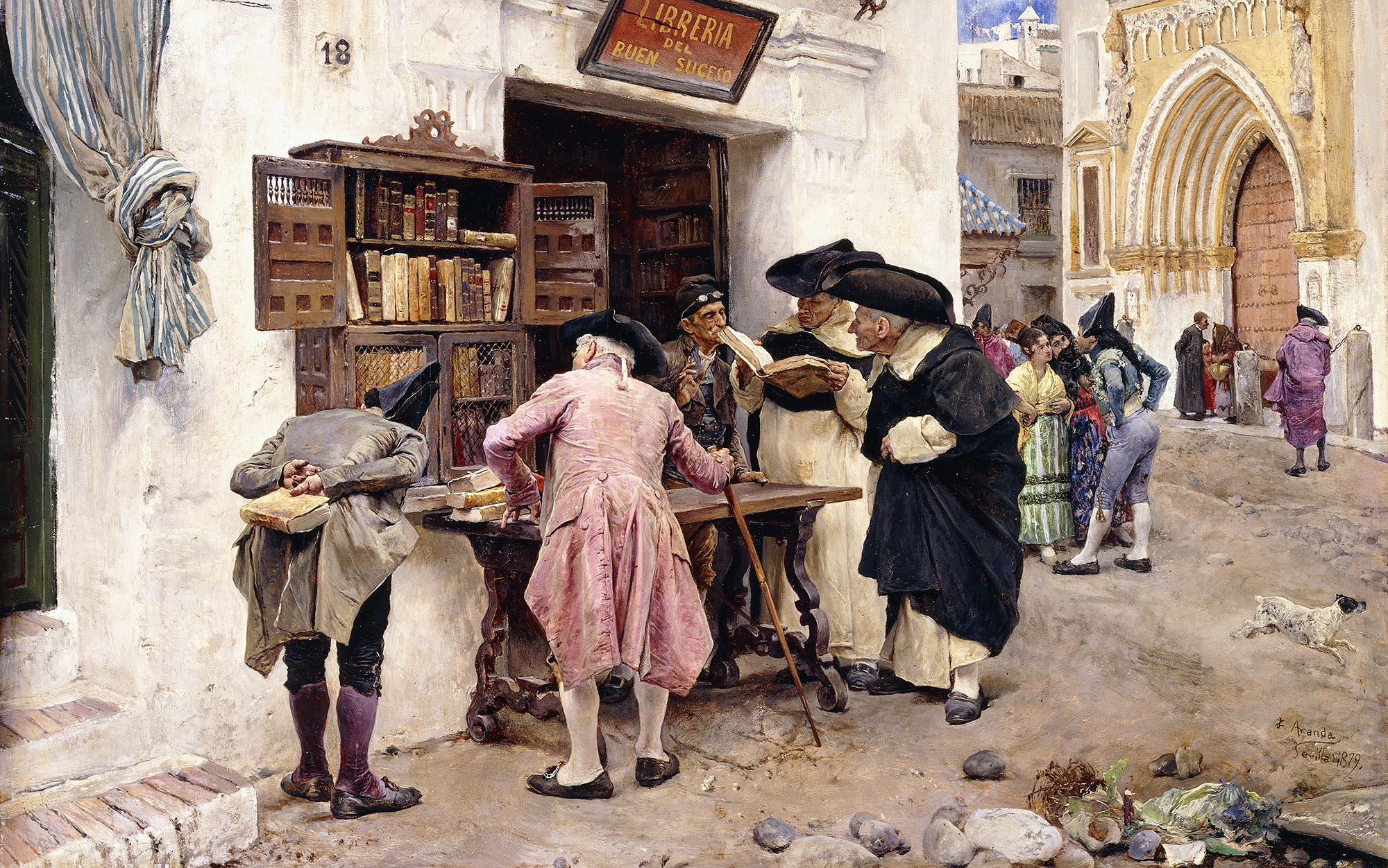 Image result for The Bibliophiles, 1879, by Luis Jimenez y Aranda