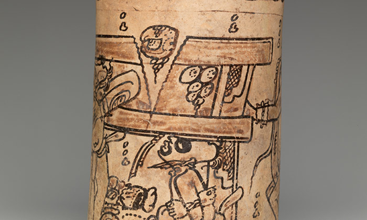 "<p>Detail from a Mayan Codex-style vase, <em>c</em>7th or 8th century. <em>Courtesy </em><a href=""https://www.metmuseum.org/art/collection/search/662967"" target=""_blank""><em>The Met Museum, New York</em></a></p>"