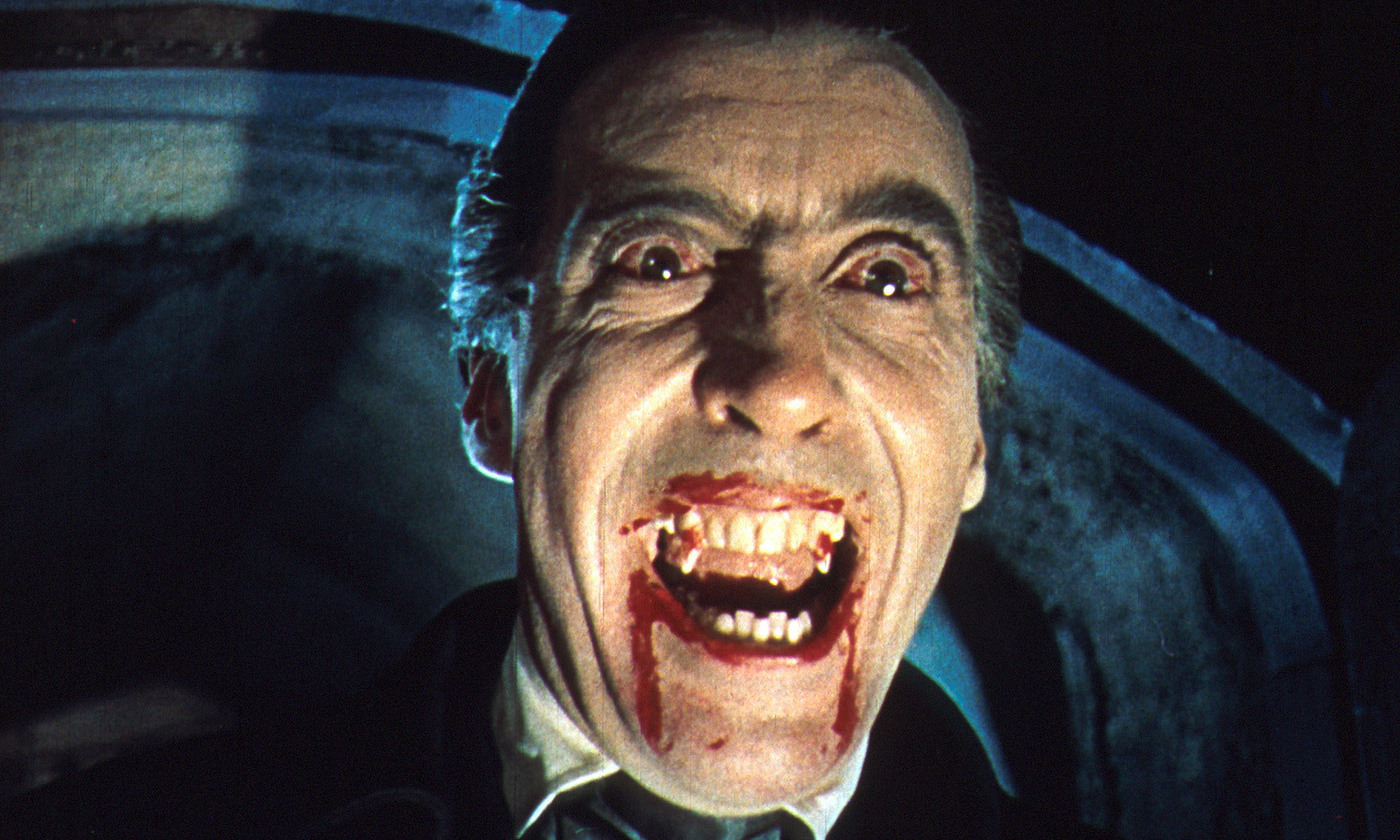 <p>Christopher Lee in <em>Dracula</em> (1958). <em>Photo by Rex Features</em></p>