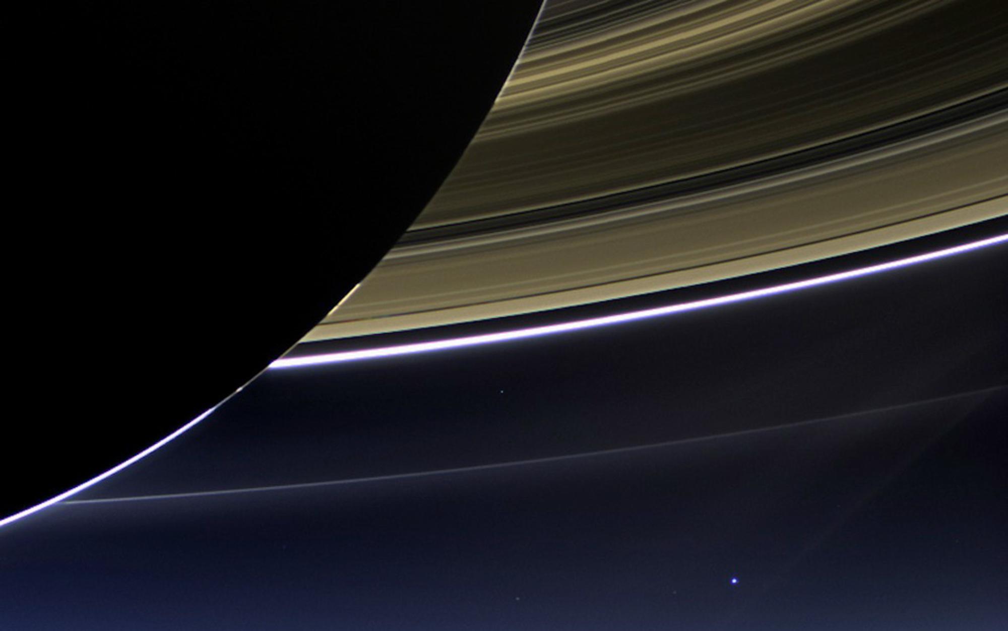 Header cassini saturn rings earth
