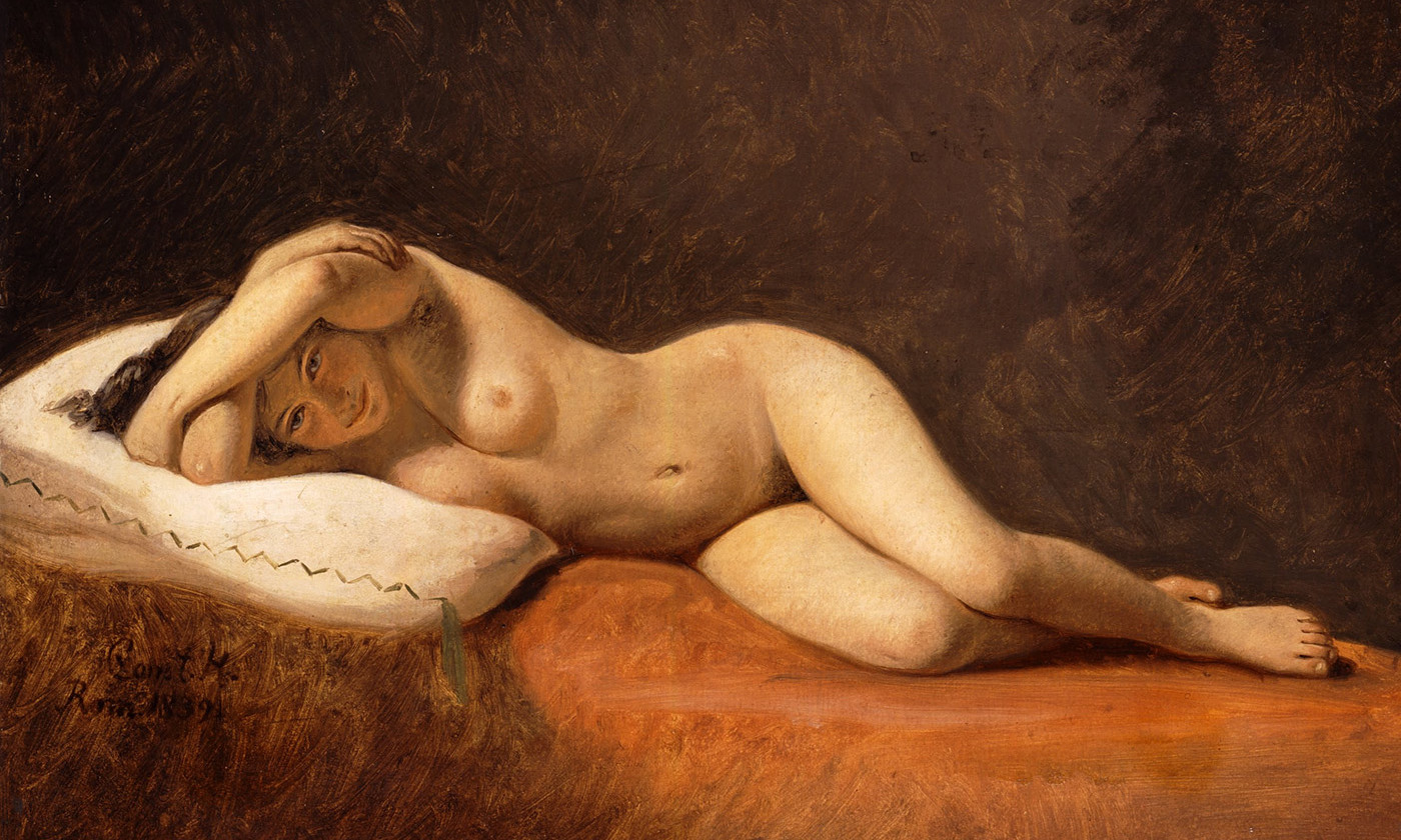 <em>Resting Model</em>, 1839 by Constantin Hansen. <em>Courtesy Ny Carlsberg Glyptotek, Copenhagen/Wikipedia</em>