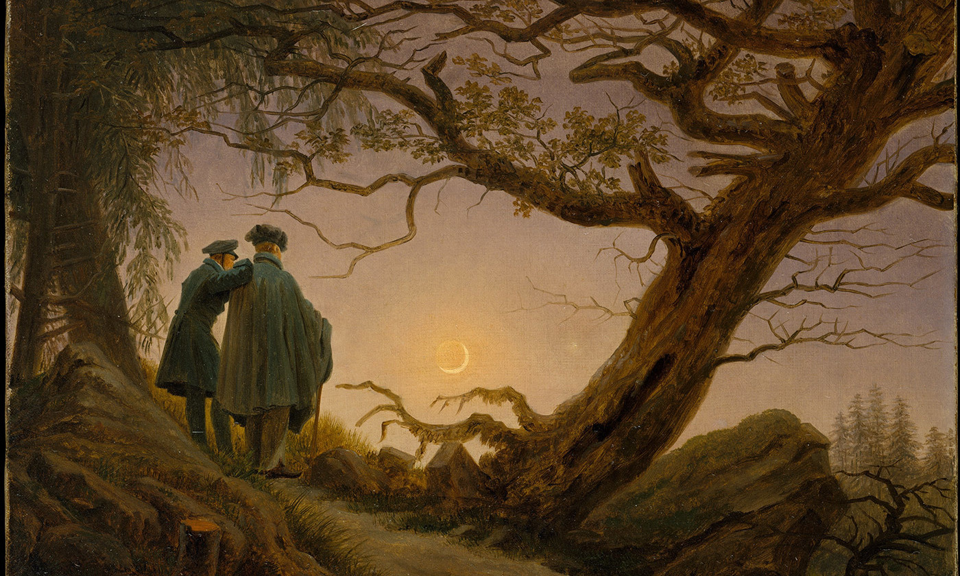 <p><em>Two Men Contemplating the Moon</em> by Caspar David Friedrich. 1825-30. <em>Courtesy Wikipedia</em></p>