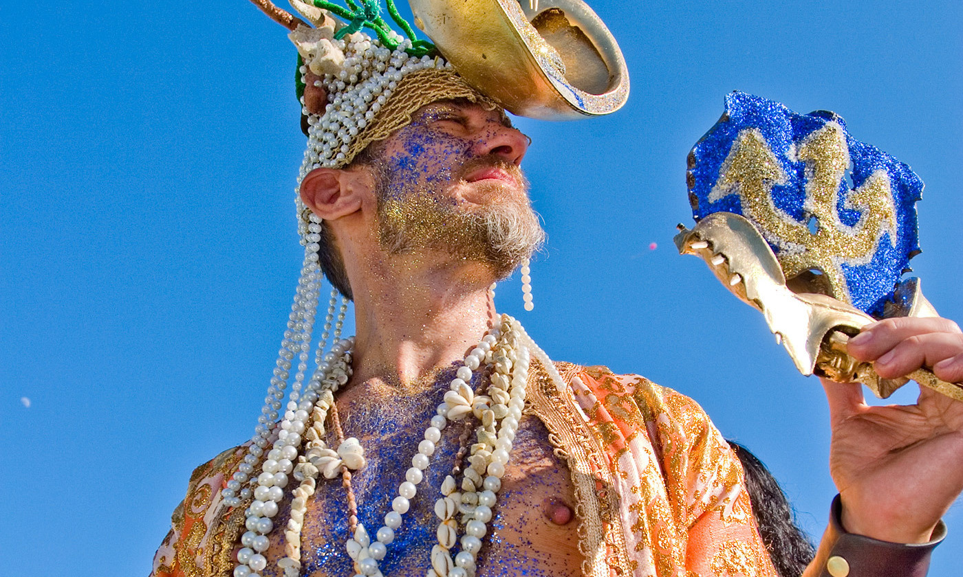 <p>Poseidon at the Mermaid Parade, Coney Island. <em>Photo by See-Ming Lee/Flickr</em></p>