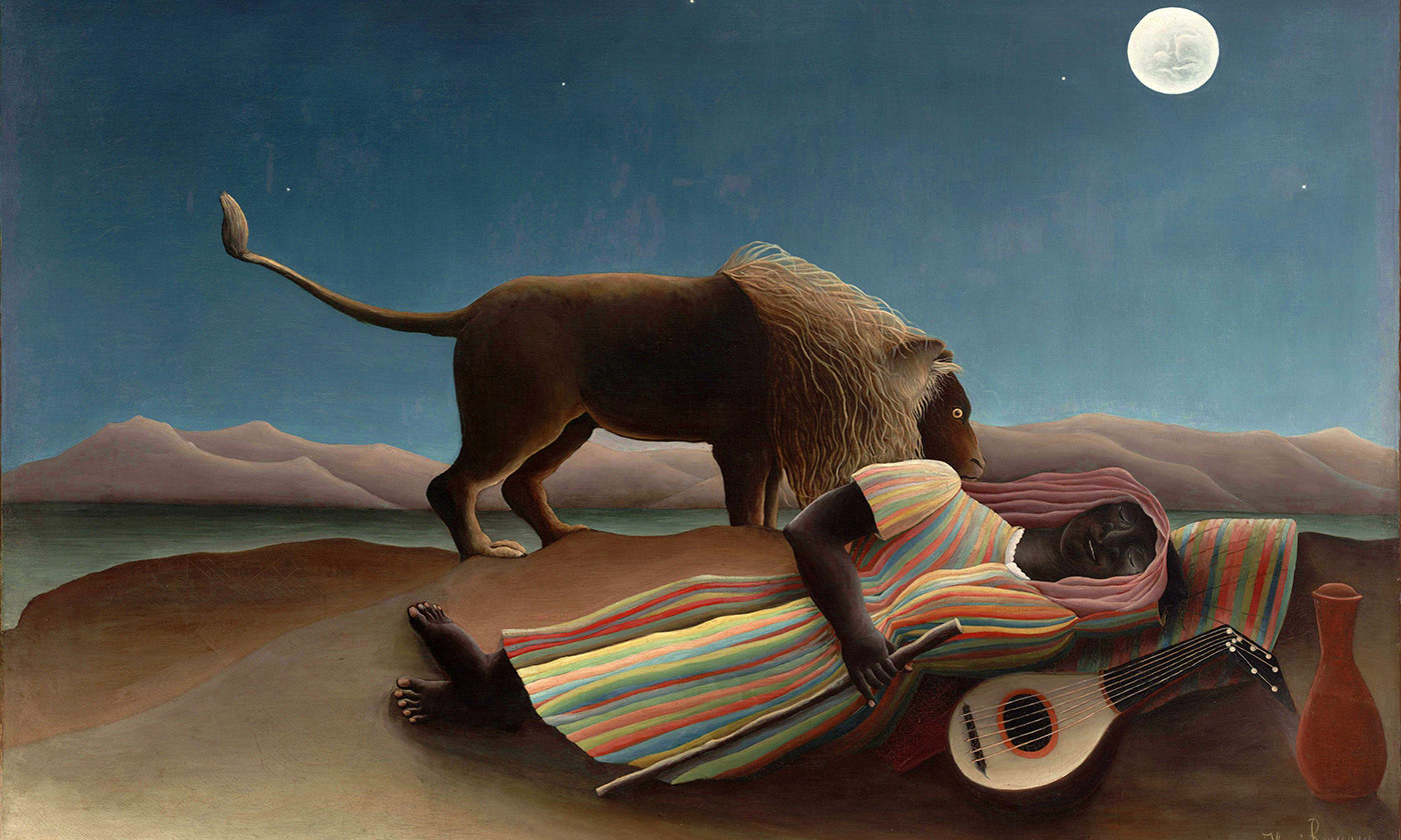 <p><em>The Sleeping Gypsy</em> 1897, by Henri Rousseau. <em>Courtesy Wikimedia</em></p>