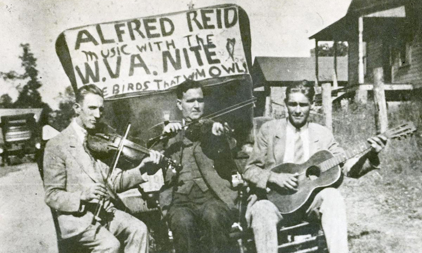 <p>Blind Alfred Reed© and the Virginia Nite Owls <em>c</em>1920. <em>Photo courtesy Goldenseal/East Tennessee State University</em></p>