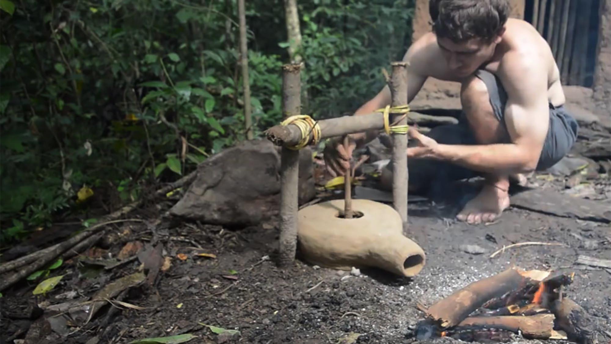 The Amazing Man Who Produces Iron Using Only Wood Bark