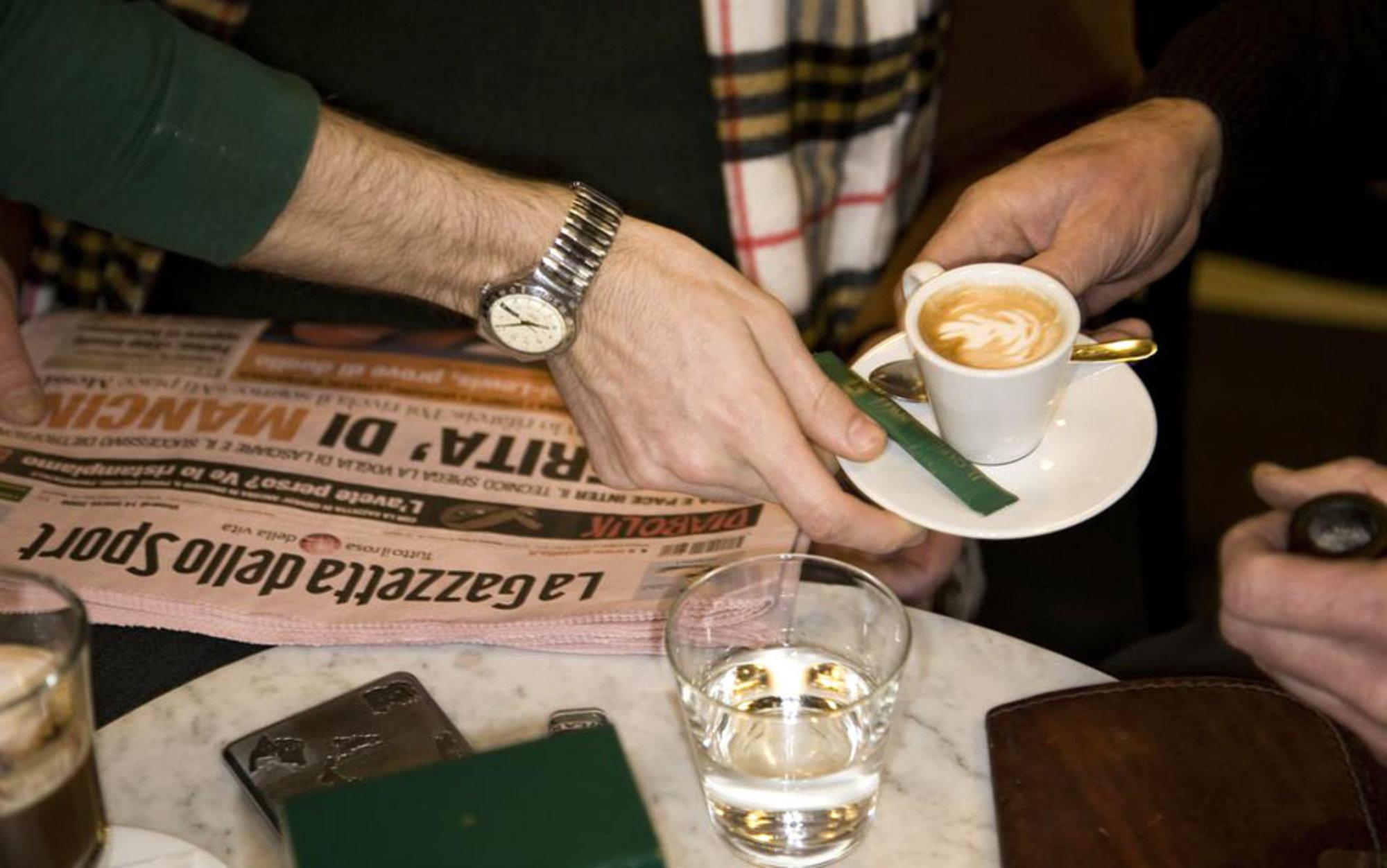 Header coffee and gazzetta