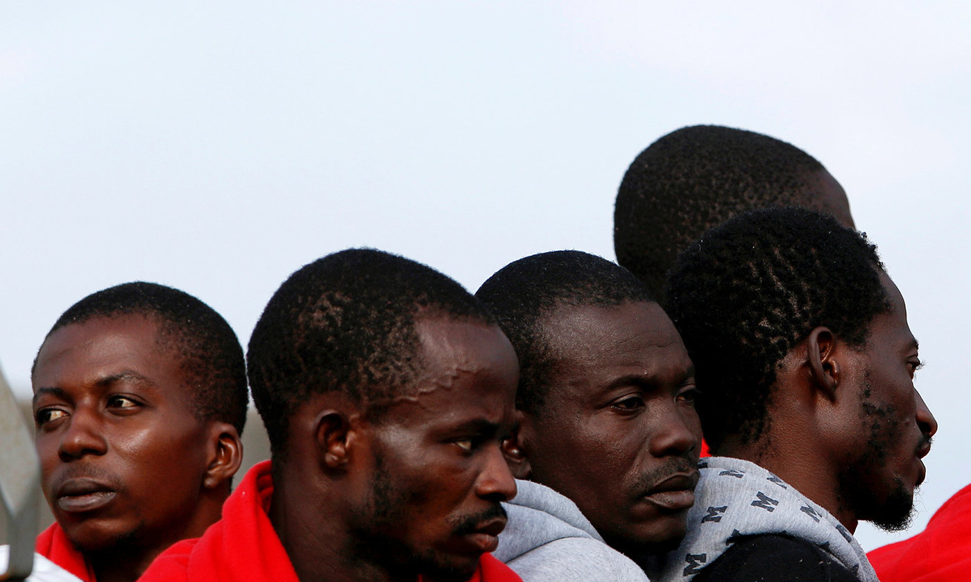 <p>Migrants disembark from Royal Navy Ship HMS Enterprise in Catania, Italy, 23 October 2016. <em>Photo by Antonio Parrinello/Reuters</em></p>