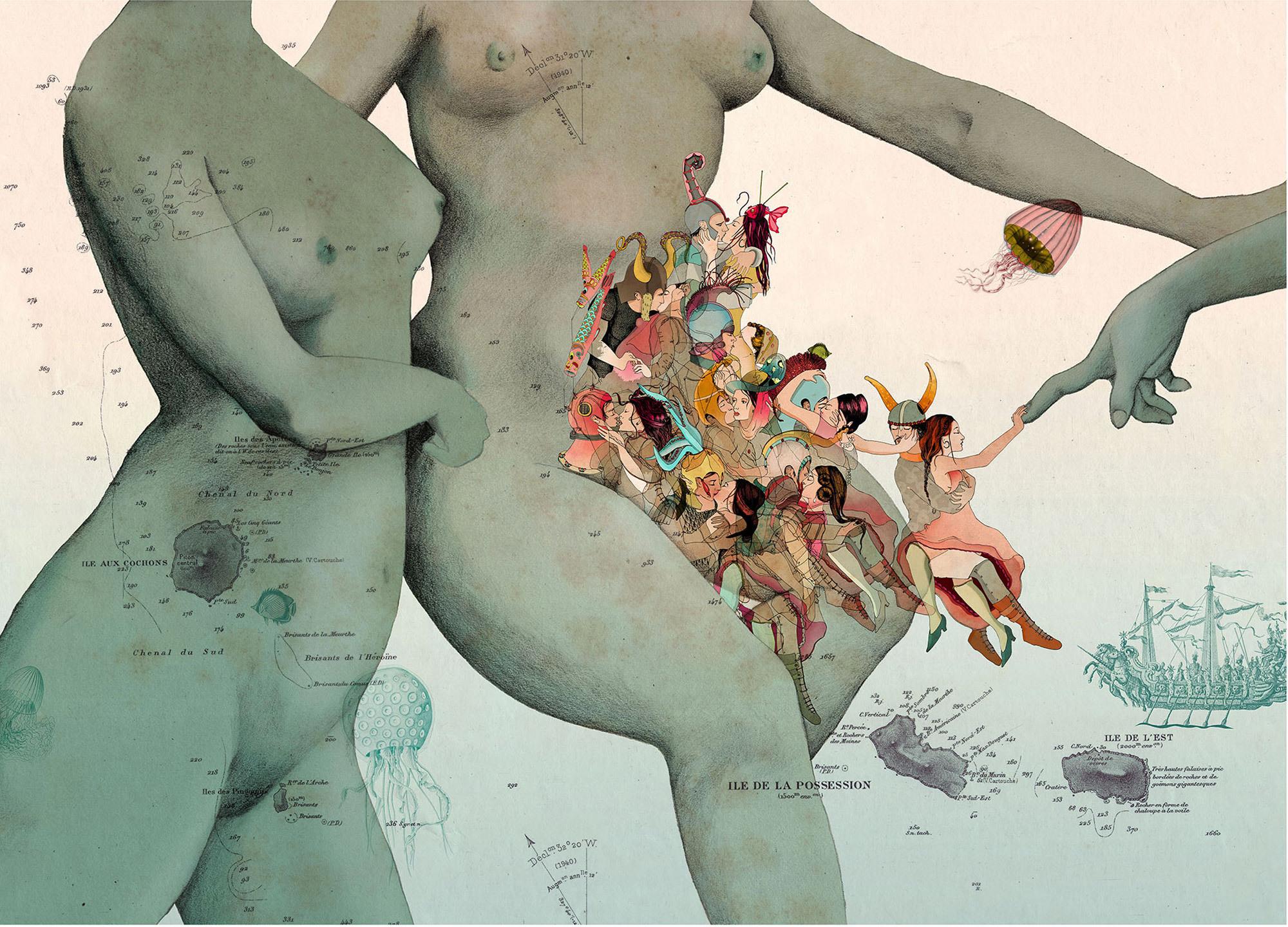 Resultado de imagem para Women's minds matter Déesse V Nine Goodbye Kisses by Delphine Lebourgeois
