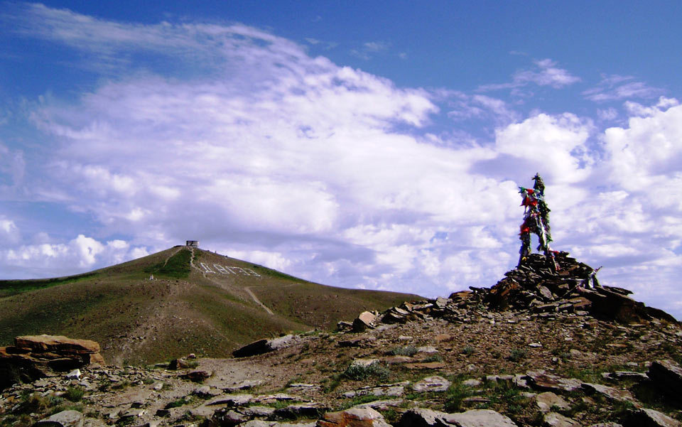 A cairn on Dögee Mountain, Kyzyl, Tyva Republic. Photo courtesy the author